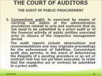 the court of auditors the audit of public procurement3