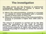 the investigation7
