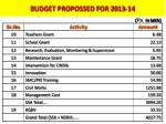budget proposed for 2010 11 cont1