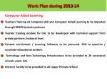 work plan during 2012 131