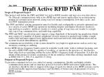 draft active rfid par