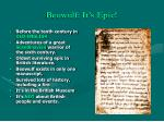 beowulf it s epic