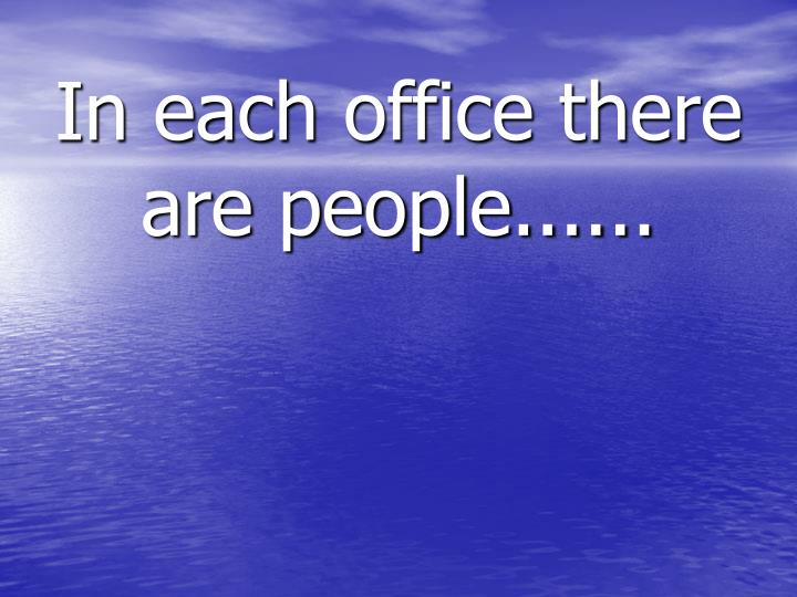 in each office there are people n.