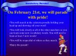 on february 21st we will parade with pride