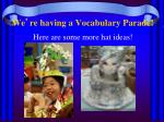 we re having a vocabulary parade1