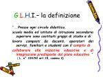 g l h i la definizione