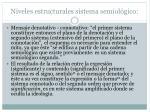 niveles estructurales sistema semiol gico