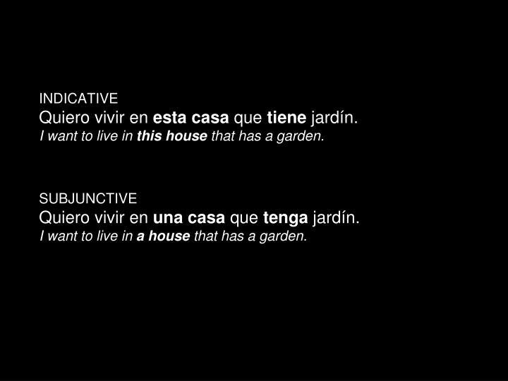 INDICATIVE