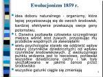 ewolucjonizm 1859 r