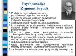 psychoanaliza zygmunt freud