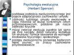 psychologia ewolucyjna herbert spencer