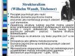 strukturalizm wilhelm wundt titchener