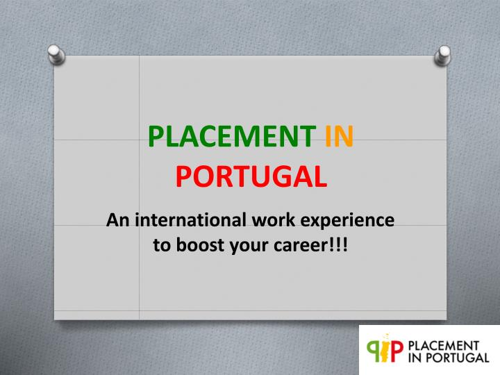 placement in portugal n.