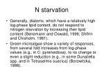 n starvation