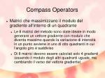 compass operators