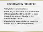dissociation principle
