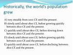historically the world s population grew
