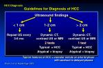 guidelines for diagnosis of hcc