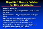 hepatitis b carriers suitable for hcc surveillance