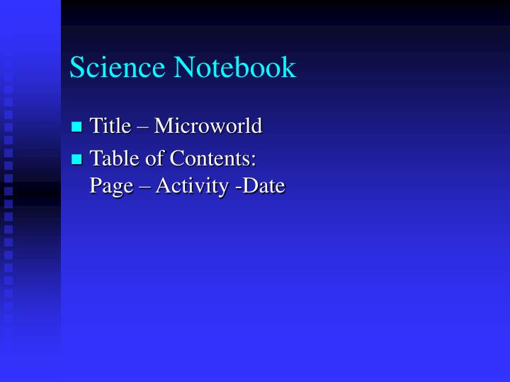 science notebook n.