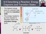 6 9 describing a reaction energy diagrams and transition states