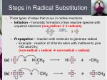 steps in radical substitution