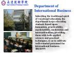 department of international business