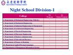 night school division 1