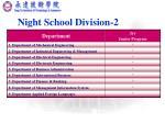night school division 2