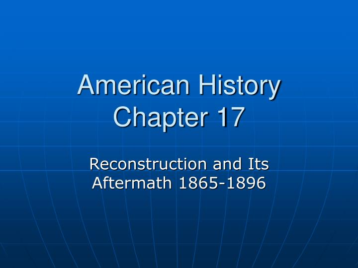 american history chapter 17 n.