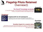 flagship pilots r etained o verview i