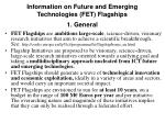 information on future and emerging technologies fet flagships 1 general