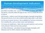 human development indicators