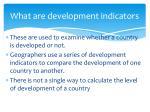 what are development indicators