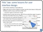 fitts law some lessons for user interface design