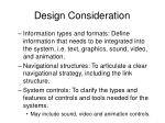 design consideration1