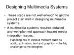 designing multimedia systems1
