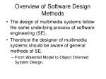 overview of software design methods
