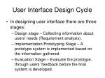 user interface design cycle