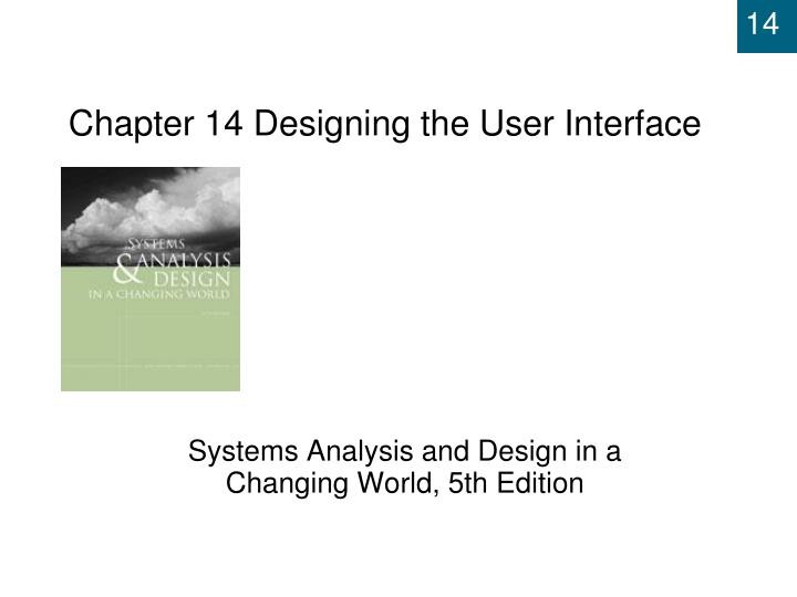 chapter 14 designing the user interface n.