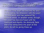 what is kino s comment on the pearl on page 67 in what sense might the statement be true