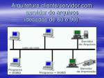 arquitetura cliente servidor com servidor de arquivos d cadas de 80 e 90