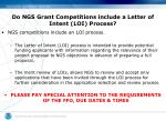 do ngs grant competitions include a letter of intent loi process