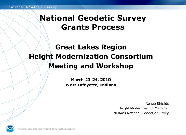 national geodetic survey grants process n.
