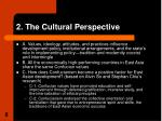2 the cultural perspective