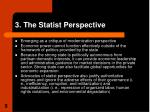 3 the statist perspective