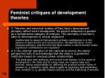 feminist critiques of development theories2