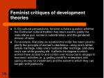 feminist critiques of development theories3