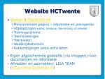 website hctwente