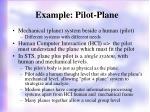 example pilot plane